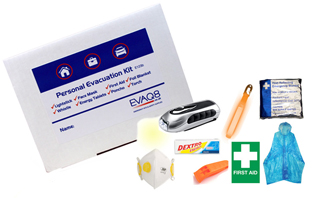Personal Evacuation Pack ideal for Offices | Business Emergency Kits and Grab Bags - Preparedness beyond Health and Safety | EVAQ8 Ltd Emergency Preparedness - Battlebox-info.co.uk